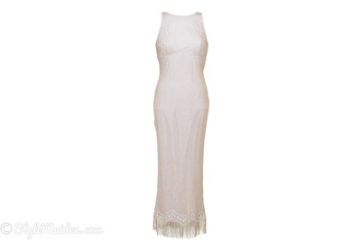 Alago Metallic Gold Crocheted Cocktail Dress Size 10 at http://stylemaiden.com