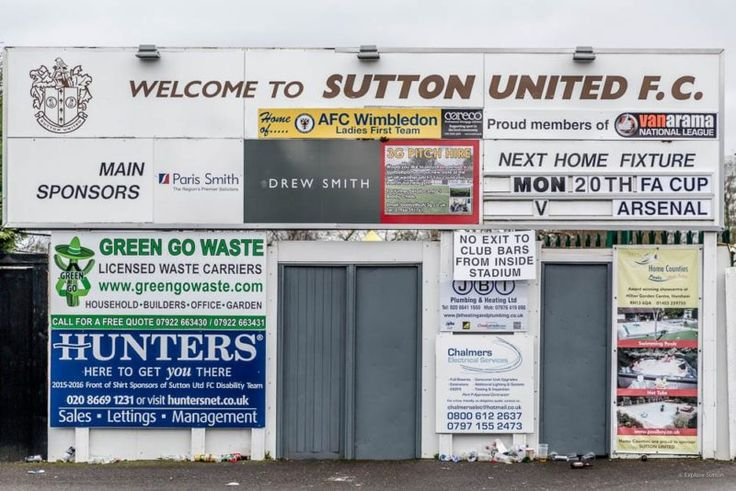 Sutton United FA Cup - There aren't many occasions that our town Sutton is featured positively on such a big stage. Thanks to Sutton United...