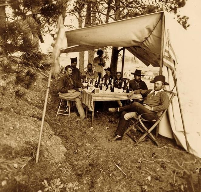 80 best frederick dent grant images on pinterest april 26 armies george custer was off climbing harney peak when his officers gathered for this drinking party during the black hills expedition sitting in the front fandeluxe Choice Image