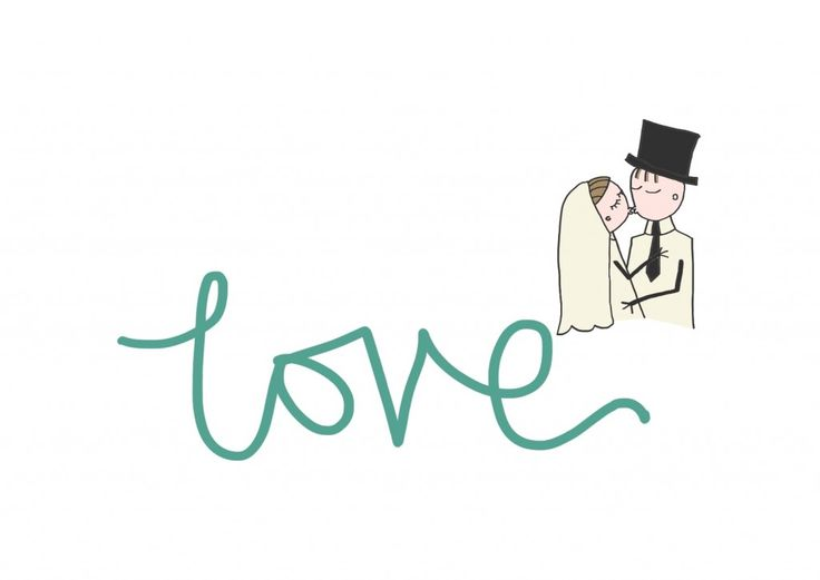 Print for a wedding or anniversary card. So cute! See more at www.helencharlotte.com