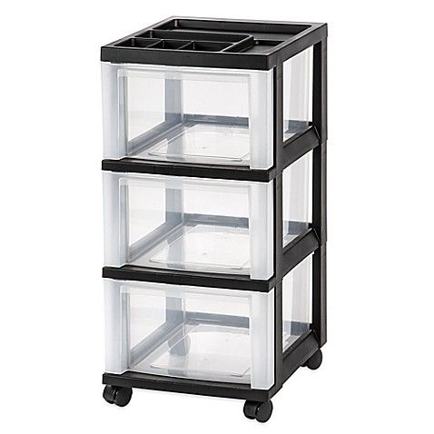 The Iris 3 Drawer Rolling Storage Cart Is Perfect For Organizing Your Closet Office Or Bathroom Clear Drawe Rolling Storage Cart Storage Cart Rolling Storage