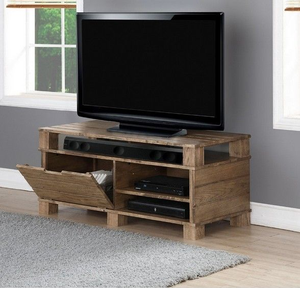 "Jual Furnishings Solid Wood TV Stand Up to 50"" TVs - Oak - By Colour - TV Furniture"
