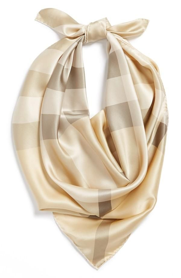Add a soft touch to your weekend look with a silk scarf | Burberry