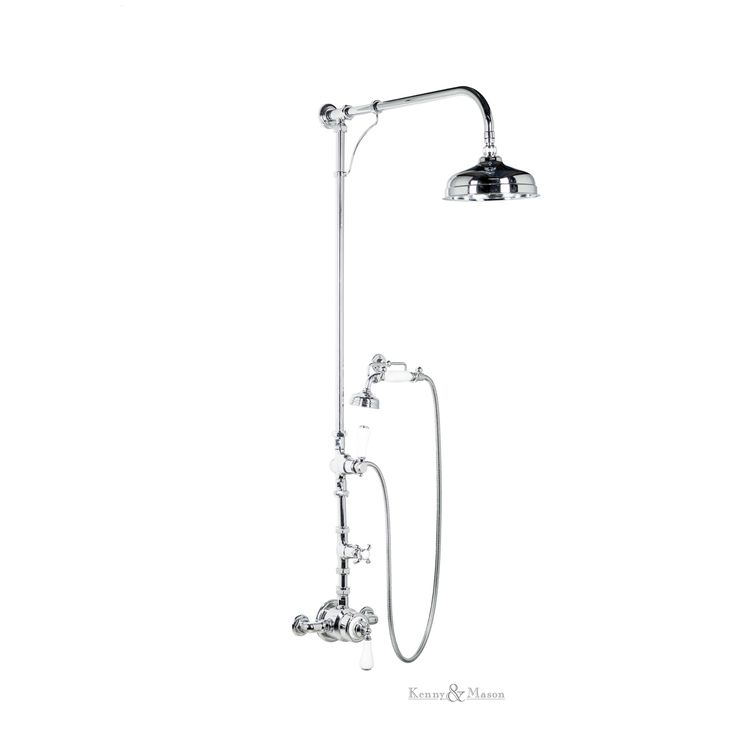 Kenny&Mason Discovery thermostatic shower with handset. This product is available in chrome, nickel, brushed nickel, gold, polished brass and old brass finish. Artn°: NGT1013T