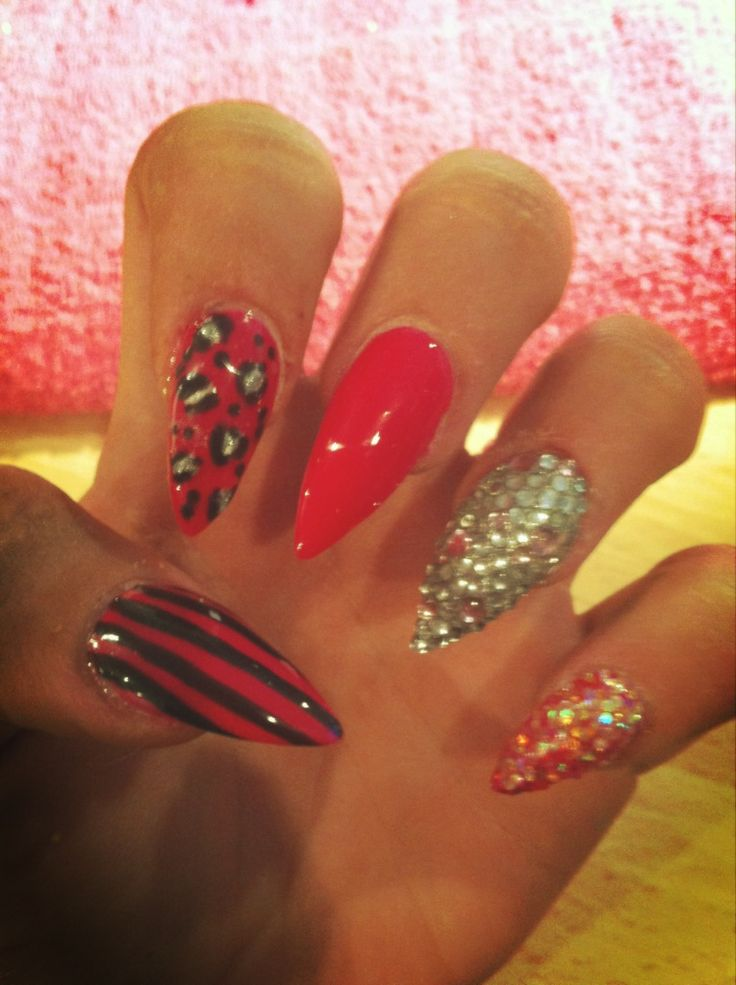 Acrylic Nail Designs Pointy Pink : Stilettos nails black acrylic awesome