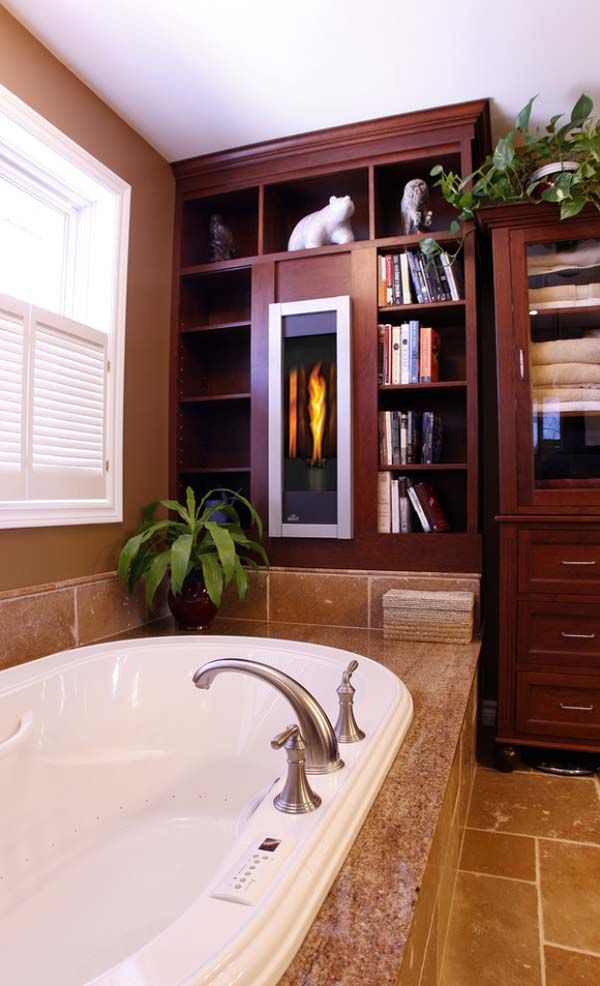 43 best Bathroom Fireplaces images on Pinterest Room Beautiful