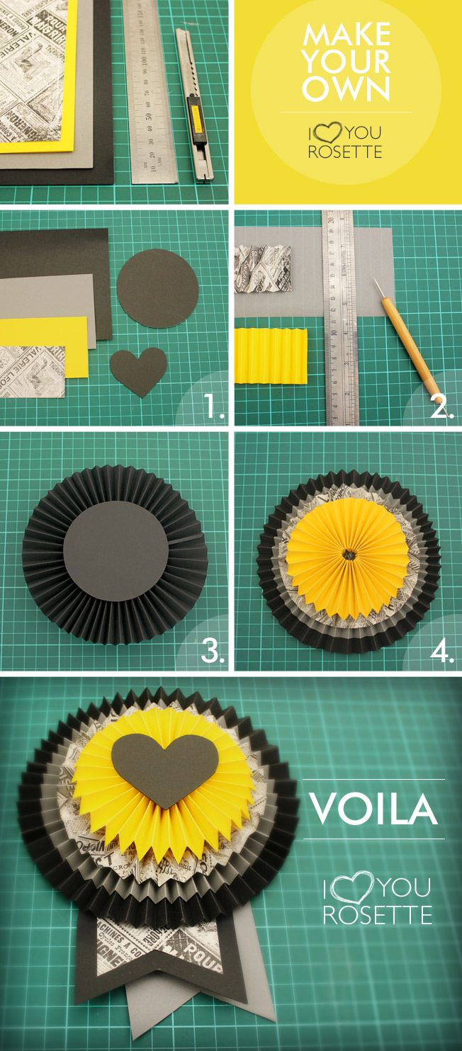 How to make rosettes out of paper - How To Make Paper Rosettes Step By Step Google Search