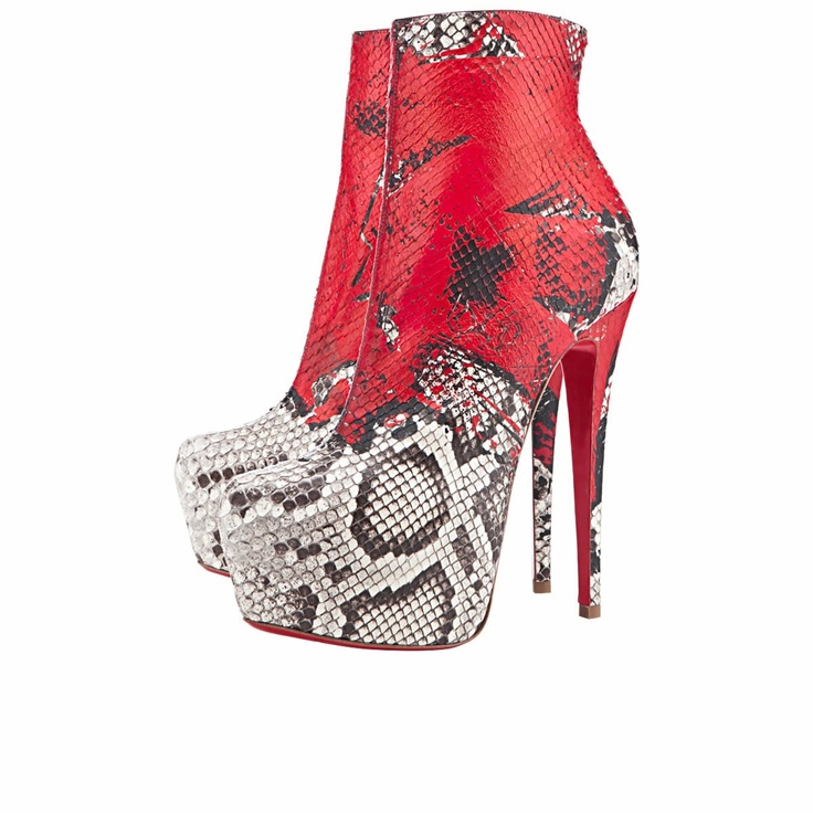 DAF BOOTY TAG 20ANS 160 mm, Leather, multicolor, 20th Anniversary  collection, womens � Leather BootiesRed BottomsWomens High HeelsChristian  Louboutin ...