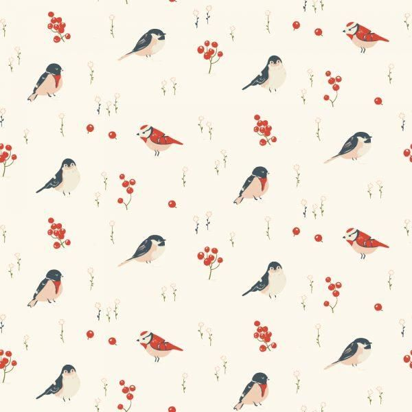 Birch Fabric | Little Collection | Love Birds - Organic Cotton Jersey – Maud's Fabric Finds