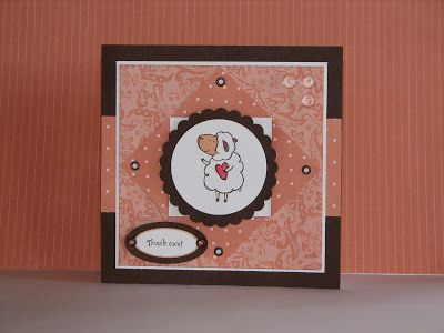 I saw a cute card on Nancy Morgan's blog ( http://www.papersmiles.blogspot.com/ ) using the Blintz base fold. So this is my version of her...