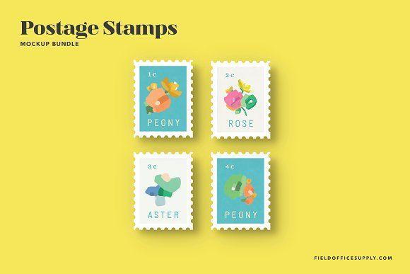 Postage Stamp Mockup Bundle Stationery Mockup Instagram Mockup Postage Stamps