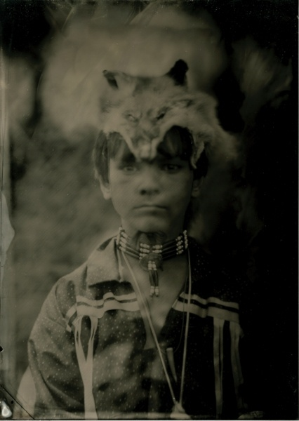 Nause Waiwash Band of Indians.  Wet Plate Collodion Tintype.  From the project, Catching Shadows: Tintype Portraits and Recorded Voices of 21st Century Native Americans Living on Maryland's Eastern Shore.