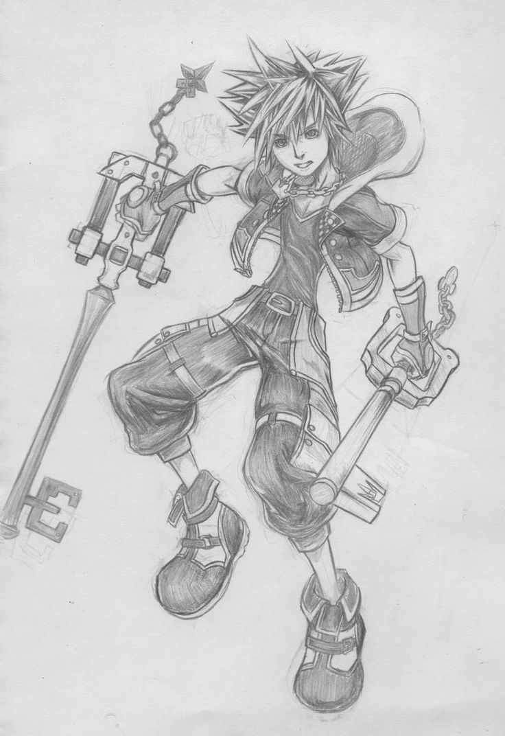 Kingdom Hearts 3 Sora Sketch (THE HYPE IS REEEAAL) by d-AspiringAmeture-b