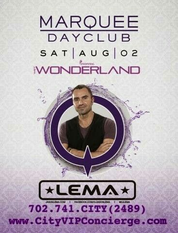 LEMA at MARQUEE Dayclub Las Vegas Saturday August 2nd. Contact 702.741.2489 City VIP Concierge for Cabanas, Daybeds, Bungalows and the BEST of Las Vegas Pool Parties!!! #MarqueeLasVegas #VegasPoolParties #LasVegasPoolParties #VegasCabanas #CityVIPConcierge CALL OR CLICK TO BOOK www.vegascabanas.com