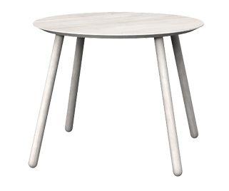 Round table OX, Colour: Off White, 100x100x76 - www.miloni.pl/en MILONI: wooden table, oak table, natural wood table, table design, furniture design, modern table