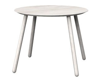 Round table OX, Colour: Off White, 100x100x76 - www.miloni.pl/en MILONI: wooden table, oak table, natural wood table, table design, furniture design, modern table