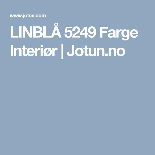 LINBLÅ 5249 Farge Interiør   Jotun.no