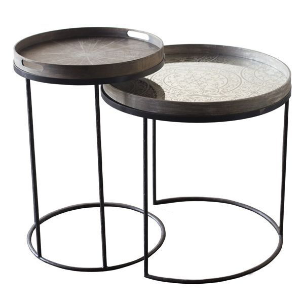 Round Tray Tables Set - by Notre Monde