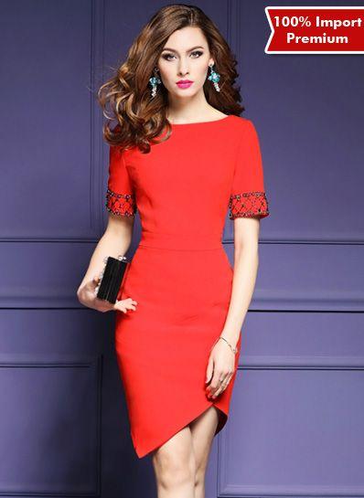 Bodycon / Party Dress Import Premium 612PR  | shopasista.com | Distributor baju import | distributor baju korea | grosir baju korea | grosir baju import | supplier baju korea tangan pertama | importir baju korea