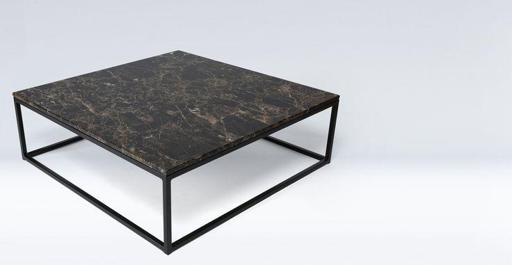 Table Basse Marbre Noir Metal Noir Smoke Basse Marbre Metal