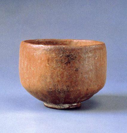 重要文化財 初代 長次郎『赤楽茶碗 無一物』