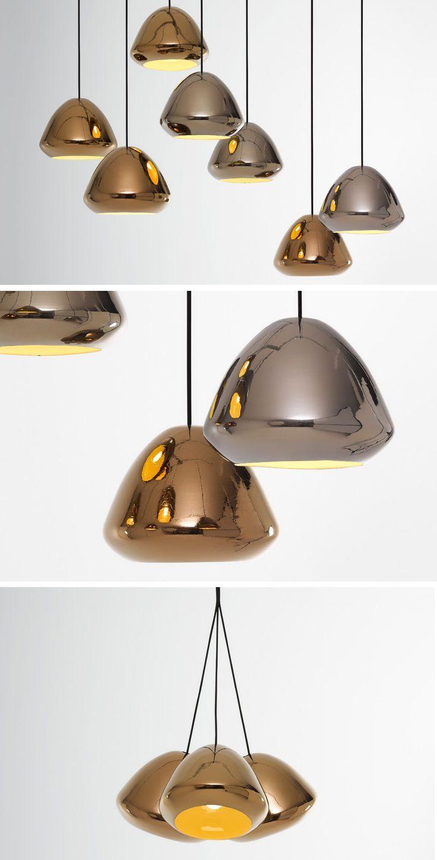 Lamps And Lighting U2013 Home Decor : Ross Gardam Designs Glaze Metallic  Collection Of Pendant Lamps