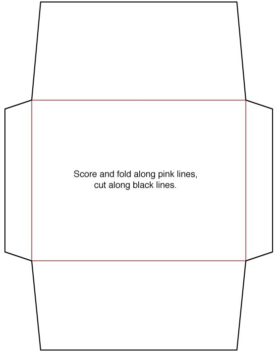 envelope template make Pinterest Envelope, Card envelopes and - sample 5x7 envelope template
