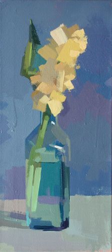 I usually don't care for still life paintings. This, I like. Yellow Hyacinth No 3 by Philip Richardson.
