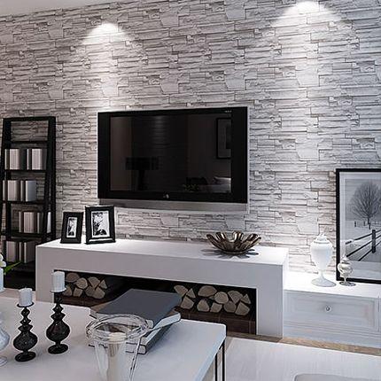 Barato modern 3d papel de parede de tijolos pvc for Papel pared barato