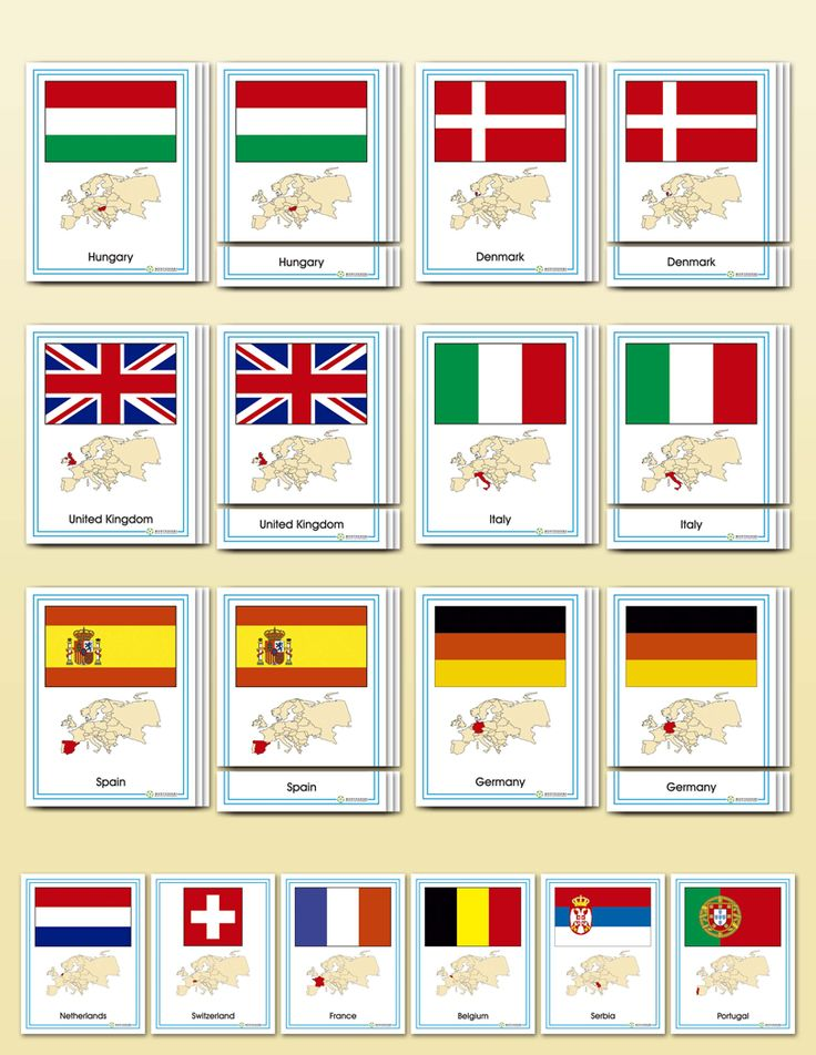 Flags of Europe | Montessori Research and Development - Montessori materials, teacher manuals and books