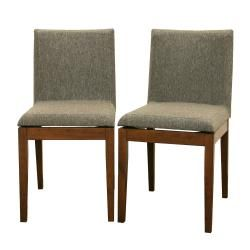 @Overstock.com - Moira Brown Modern Dining Chairs (Set of 2) - These two dining chairs feature a beautiful and durable rubberwood construction. Rich multi-hued hazel twill fabric upholstery adds sophistication to these handsome chairs.  http://www.overstock.com/Home-Garden/Moira-Brown-Modern-Dining-Chairs-Set-of-2/5583773/product.html?CID=214117 $215.85