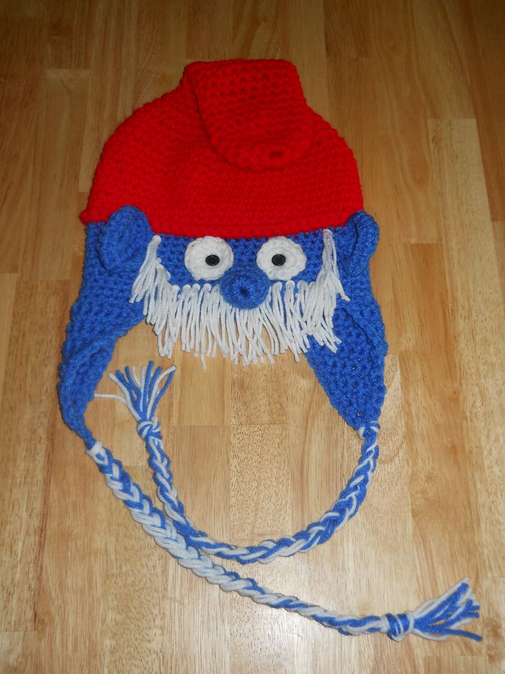 Crochet Papa Smurf Crochet And Knit Crochet Hats