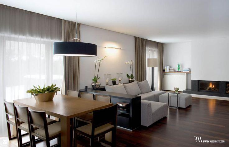 Salon z jadalnią - zdjęcie od Bartek Włodarczyk Architekt - Jadalnia - Styl Nowoczesny - Bartek Włodarczyk Architekt