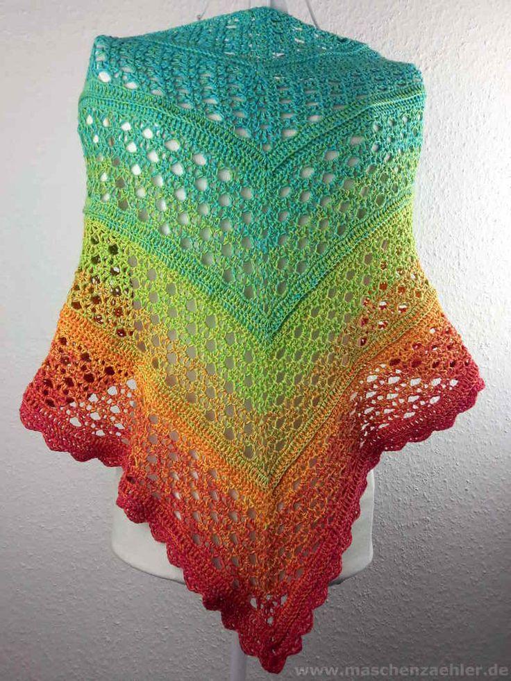 233 besten Tücher und Schals Bilder auf Pinterest | Häkelschals ...