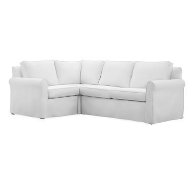Cameron Roll Arm Slipcovered Right Arm 3-Piece Corner Sectional Polyester Wrapped Cushions  sc 1 st  Pinterest : cameron sectional - Sectionals, Sofas & Couches
