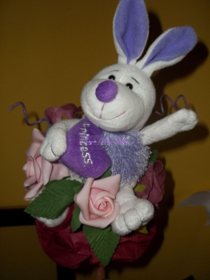 Nyuszis csokor alkalomra- névnap, születésnap, ballagás...