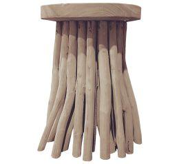 Save On Crafts Zuna Natural Driftwood Pedestal Side Table Front