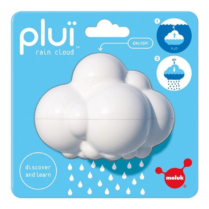 STEM bath toys: Pluï Rain Cloud from Moluk | Amazon