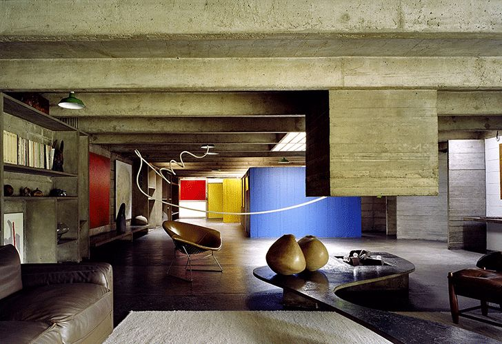 Tomie Ohtake house, São Paulo, 1970. Interior. Love this design so much.