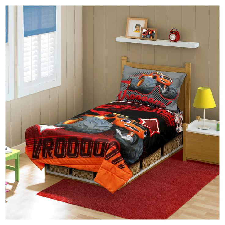 Blaze And The Monster Machine Toddler Bed Set - Orange, Red