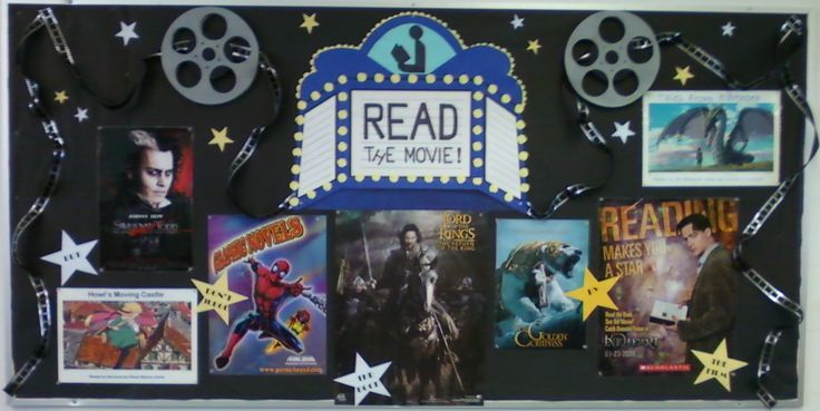 """Smells Like Library: BULLETIN BOARDS & DISPLAY : """"Read the Movie"""""""