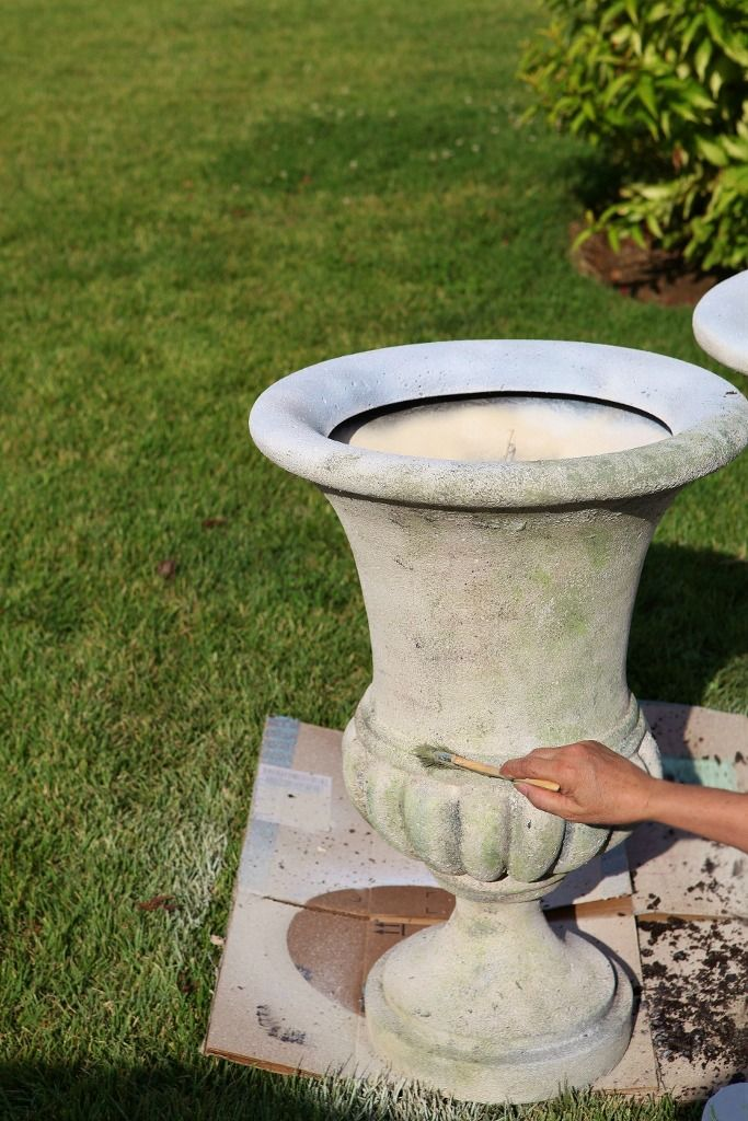 painting garden pots with annie sloan | By adding layer upon layer, you can achieve a darker patina, if that's ...
