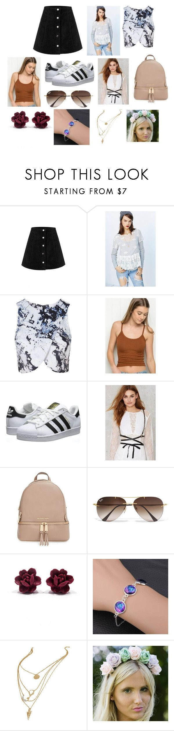"""""""Outside Lands 2016 Inspiration"""" by sinead-thomas-1 on Polyvore featuring Kimchi Blue, Topshop, adidas Originals, JAKIMAC, MICHAEL Michael Kors and Ray-Ban"""