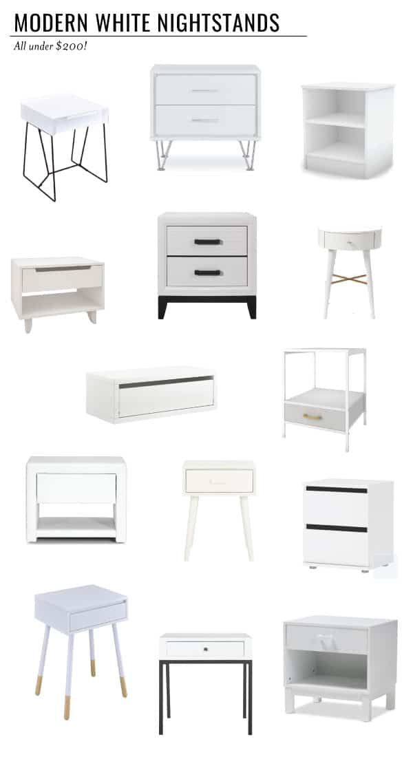 Best Sources For A Modern White Nightstand White Bedroom