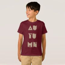 Autumn  Funny Typography Fall Season T-Shirt