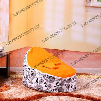 БЕСПЛАТНАЯ ДОСТАВКА ребенка мешок фасоли крышка с 2 шт. оранжевый обложка детское сиденье крышка ребенка мешок фасоли сиденье ребенок погремушка мешок фасоли мебель
