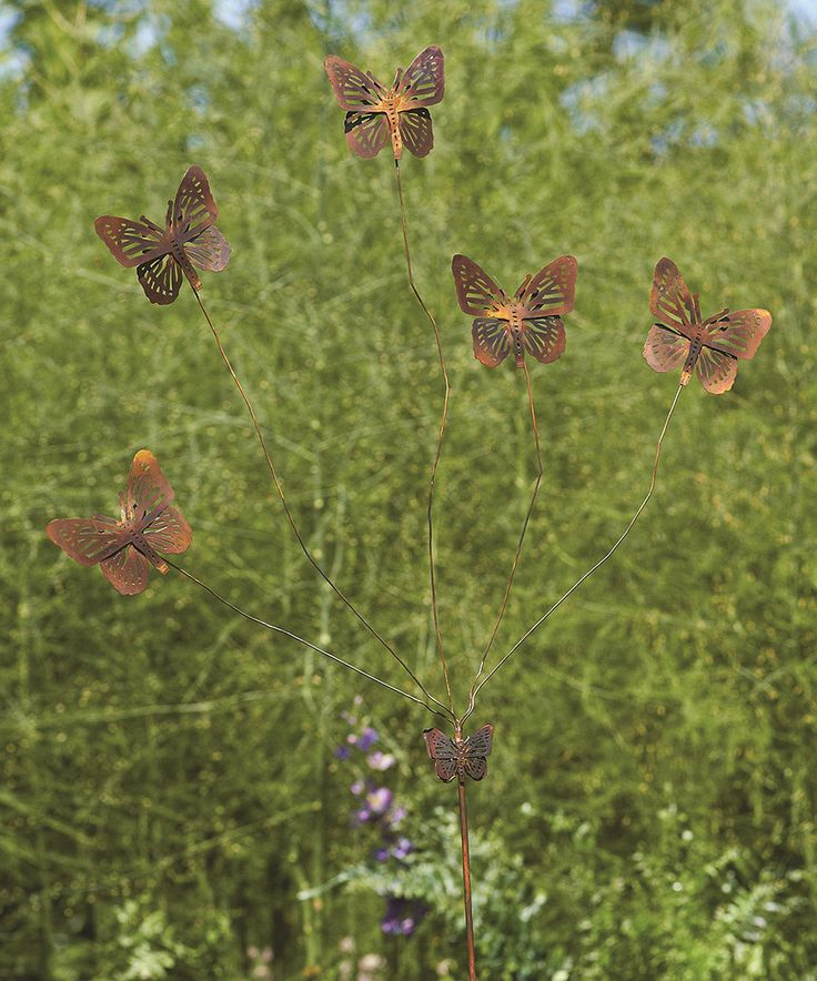 Ancient Graffiti Fluttering Butterfly Garden Stake