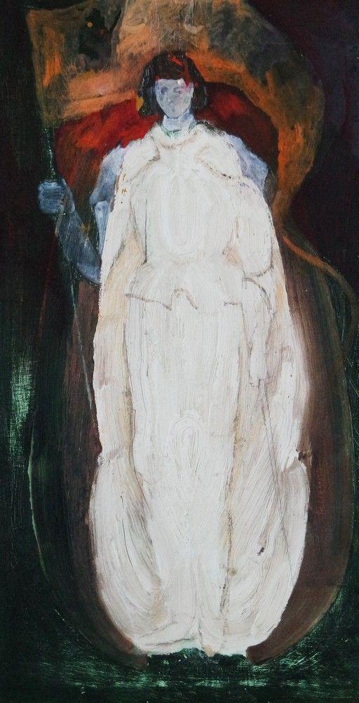 Döbröntei Zoltán: Jeanne d'Arc (vázlat, scetch)