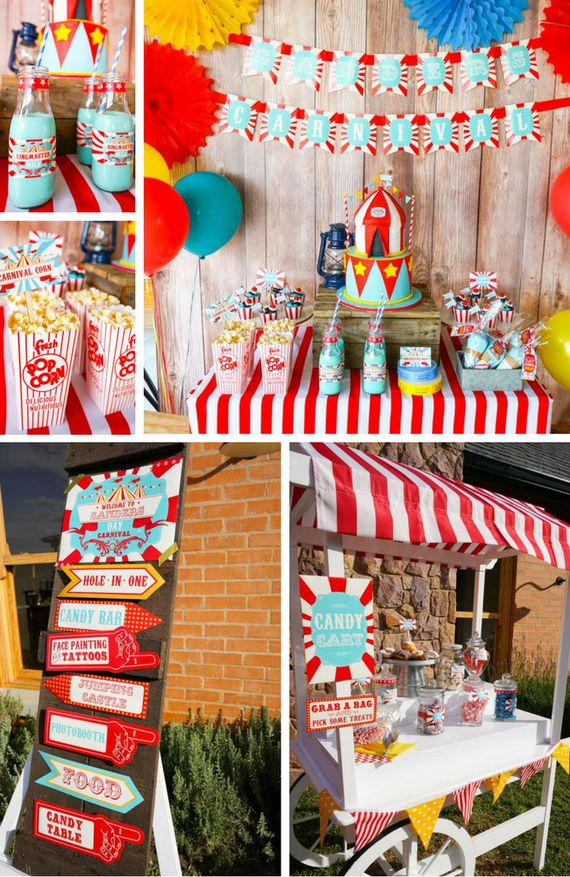 Backyard Carnival Theme Party