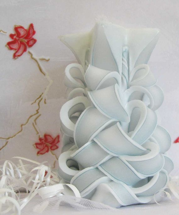 Candle  Carved candle  Candle with plastic insert  by CandleHomel, $15.00